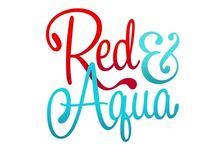 RED AND AQUA