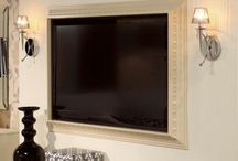 flat screen tv ideas, wall and cabinet