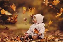 осень с ребенком