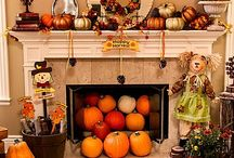 Fall Decor / We're spreading an abundance of fall inspired decorating ideas for outdoor and indoor! From your porch to mantel, there are Thanksgiving pieces featuring pumpkins, autumn leaves, scarecrows and more to fill your home!