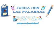 ¡¡Juega con las palabras!! Juegos de lengua / Juegos de lengua para aprender vocabulario, ortografía, comprensión de textos, etc / by Escuela en la Nube
