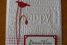 Embossed background cards