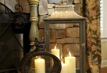 Fireplace decor / by michelle