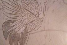 My art / Hum...ce n'est pas du grand art, mais voilà en gros quelque de mes dessins  Not beautiful art, my art ;)