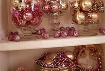 I'm Dreaming Of A Pink and Green Christmas /  AKA - Pink and Green Christmas items / by Tanya Green