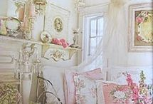 shabby chic/French country/cottage / a bit of lace, a bit of sugar, a bit of whimsy, a bit of elegance / by Suzie Berger