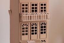 Wood miniature house