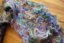Fabric from scrap threads