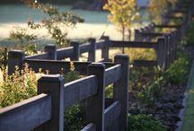 Landscape - Post and rail fences