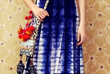 shibori dress and blouse
