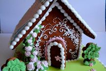 ginger bread houses / by Debbie Gwynn