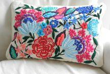 almohadones mexicanos y bordados