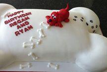 Clifford the big red dog / Clifford the big red dog themed birthday party ideas & cakes