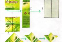 Teapapír csillag / Teepapersterne