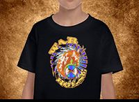 T Shirts for Kids - Real Native American / Up to 25% of  all Hanblechia Designs Apparel and FREE shipping options. Native American Artwork Made to Wear, By Native Americans. www.hanblechiadesigns.com.au