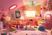 Cartoon interiors