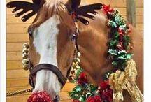 xmas horse