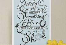 Weddings: Something Blue / With a nod to the old adage, we've pulled together a few of our favourite ways to add a little something blue to your day. / by notonthehighstreet.com