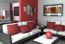 Salon Moderne Rougesalon