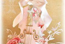 violon décoré