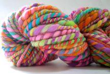 Yarn - hand spun or hand dyed / Yarn, wool, hand spun, hand dyed