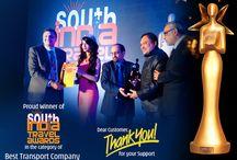 "Parveen Travels - Best Transport Company / Parveen Travels got ""Best Transport Company"" in South India Travel Awards."