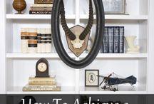 Bookcase & Shelf Styling