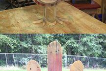 - decoratiuni din lemn   pt curte   si gradina