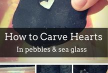 Carve heart in pebble / Dremel needed