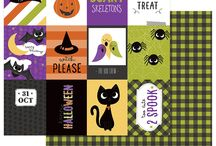 Trick Or Treat by Mari Koegelenberg / The adorable patterns and icons of our new Halloween collection are filled with treats (and a few tricks), sure to inspire your next Halloween page or project! Trick or Treat is full of spooky, sweet patterns and a Boo Crew of cats, bats and witches hats, all in a traditional Halloween color palette. This collection is too cute to spook! Shipping June 2018