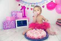 1st birthday trash the cake
