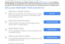 Google Webmasters and Analytic New Updates / Get all news and updates pins related to Google webmasters and analytic.