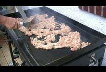 Asian teppanyaki dishes