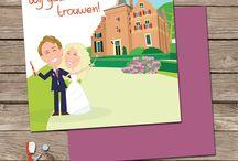 Maatwerk trouwkaarten - Custom made weddinginvites / Custom wedding invitations send an email for info to alma@almalangerak.nl