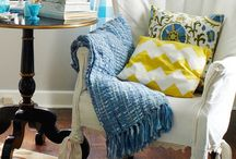 fancy nook & balcony / a little corner & pillows  / by Kumiko Sayuri