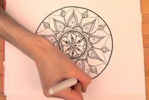 Mandala Malen / Wie ein Mandala entsteht