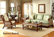 Beautiful Indoor Wicker and Rattan Living Room Furniture / http://www.americanrattan.com/rattan-lr.html Built to last with all natural high quality Rattan and Wicker. Sofas, sleepers, rockers, lounge chairs, love seats, ottomans, end tables, coffee tables, and more. Huge selections of stains and fabrics to choose from.