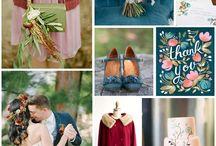 Wedding Color Palettes / Ideas for color schemes and palettes