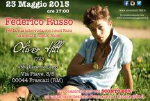 Events / 23 Maggio 2015 ore 17:00 Federico Russo per la sua intervista con i suoi Fans ha scelto il nostro Store #oliverhill1723