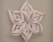 fabric snow flakes