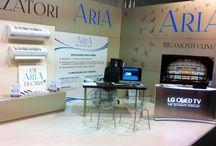 #ARIA al SALONE del MOBILE / #SaloneDelMobile di Bergamo 2014 #Climatizzatori con #pompaDiCalore #design e #innovazione