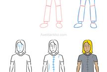 Characters - Complex / Adorable drawing lessons featuring complex characters.