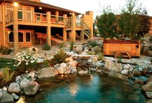 Close To Nature / We designed this #landscape to really harmonize with the natural surroundings of this property. The pond, the stonework,and the greenery were all used to enhance the natural beauty of this amazing space. #ColoradoCustomDecks #MosaicOutdoorLiving Find us at http://coloradodecks.com/
