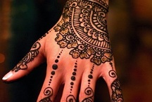 Art - Henna Body Painting / Over the days or weeks (depending how heavy the stain is), Henna will gradually fade away unless it is kept painted. / by Freda McCarty