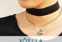 CHOKERS / Choker Alert! We've got you the perfect neck-mate for you! With all the actresses in Bollywood to Hollywood, everyone is high on their choker game. So what are you waiting for? Get your hands on some of the gorgeous chokers from Voylla! Be it chained chokers or lace chokers or a chic black choker, whatever you choose, you will make all the heads turn as you go. Buy choker online from http://www.voylla.com/ or take inspiration from Bollywood stars, read our blog http://blog.voylla.com/