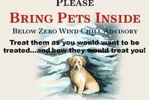 Bring your pets inside!!! / Bitterly cold temps this week can be fatal to both humans and pets alike. Please do not leave your pets out in the cold!!!!!