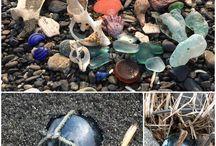 glassfloat / beachglass Glass float fishing ball