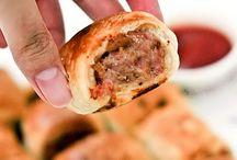 Finger foods / Chicken sausage rolls