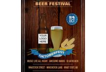 Octoberfest Club/Pub/Company Party Package / All elements on these October Beerfest matching goodies for Company/Corporate events are entirely customizable