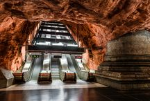 Stockholm / The Stockholm 'Tunnelbana' underground in photos, all lines, all stations